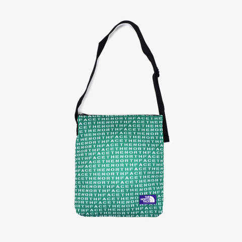 Logo Print Mesh Shoulder Bag