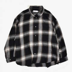 Check Regular Collar Big Sleeve Shirt