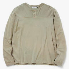 TROOPER HENLEY NECK L/S TEE COTTON JERSEY OVERDYED