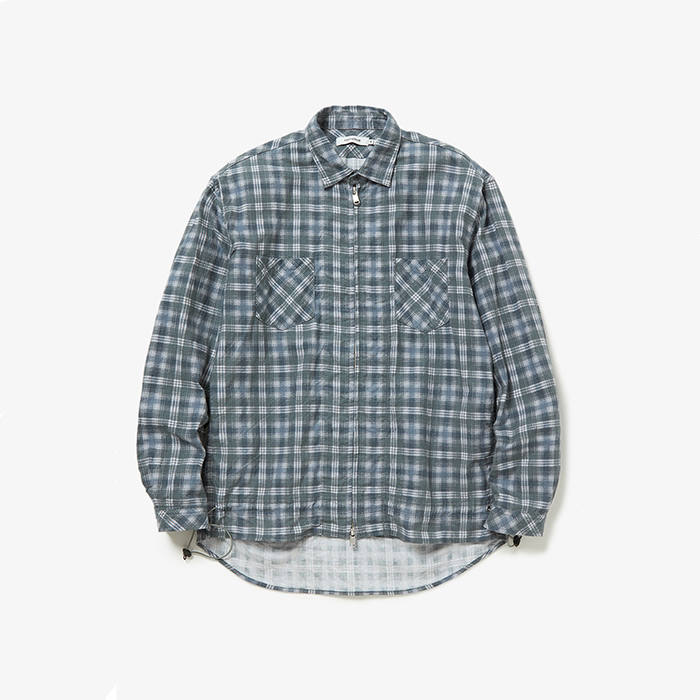 WORKER SHIRT JACKET / COTTON TWILL PLAID PRINT